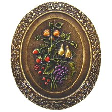 Notting Hill Cabinet Knob Fruit Bouquet Brass Hand Tinted
