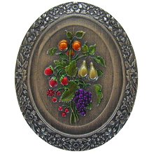 Notting Hill Cabinet Knob Fruit Bouquet Pewter Hand Tinted
