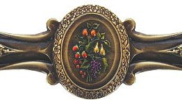 Notting Hill Cabinet Pull Fruit Bouquet Brass Hand Tinted