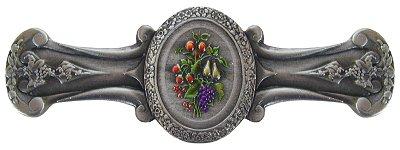 Notting Hill Cabinet Pull Fruit Bouquet Pewter Hand Tinted
