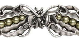 """Notting Hill Cabinet Pull Pearly Pea-pod Antique Pewter 5"""" x 1-1/2"""""""