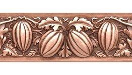 "Notting Hill Cabinet Pull Autumn Squash Antique Copper 4-7/8"" x 1-1/4"""