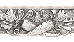 """Notting Hill Cabinet Pull Leafy Carrot Antique Pewter 4-7/8"""" x 1-3/8"""""""
