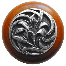 Notting Hill Cabinet Knob Tiger Lily/Cherry Antique Pewter