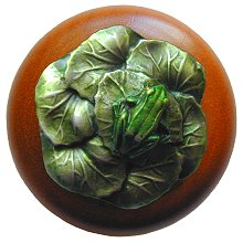 Notting Hill Cabinet Knob Leap Frog/Cherry Pewter Hand Tinted