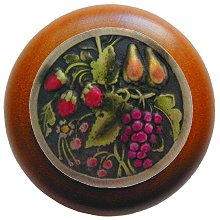 Notting Hill Cabinet Knob Tuscan Bounty/Cherry Brass Hand Tinted