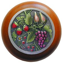 Notting Hill Cabinet Knob Tuscan Bounty/Cherry Pewter Hand Tinted