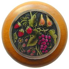 Notting Hill Cabinet Knob Tuscan Bounty/Maple Brass Hand Tinted