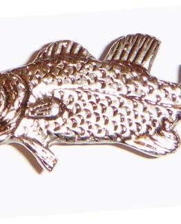 Buck Snort Lodge Hardware Cabinet Knobs Swimming Bass -Facing Left