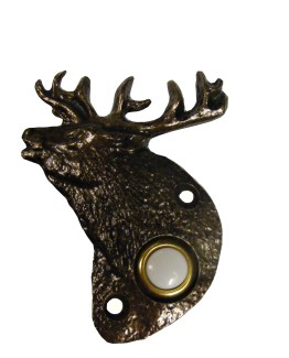 Buck Snort Lodge Decorative Hardware Elk Door Bell