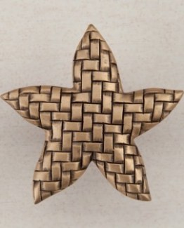 Acorn Manufacturing Woven Star Cabinet Knob Museum Gold