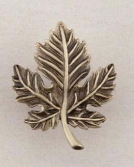 Acorn Manufacturing Leaf Cabinet Knob Antique Brass