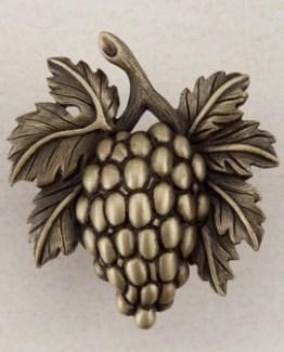 Acorn Manufacturing Grapevines Cabinet Knob Antique Brass