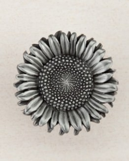 Acorn Manufacturing Sunflower Antique Pewter Cabinet Knob