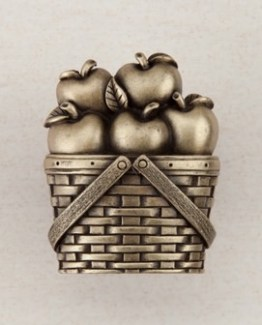 Acorn Manufacturing Apple Basket Cabinet Knob Antique Brass
