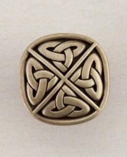 Acorn Manufacturing Celtic Square Cabinet Knob Antique Brass
