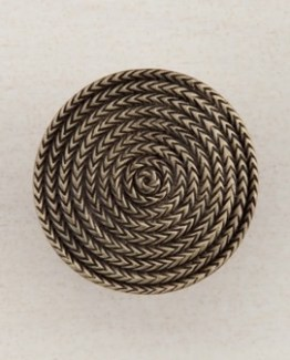 Acorn Manufacturing Rope Circle Cabinet Knob Antique Brass