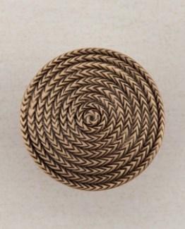 Acorn Manufacturing Rope Circle Cabinet Knob Museum Gold