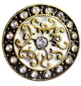 Charleston Knob Company Silver Cloisonné Jewel Cabinet Knob