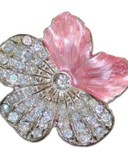 Charleston Knob Company Cloisonné Jewel Pink Flower Cabinet Knob