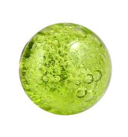 Charleston Knob Company Bubble Glass Green Round Cabinet Knob