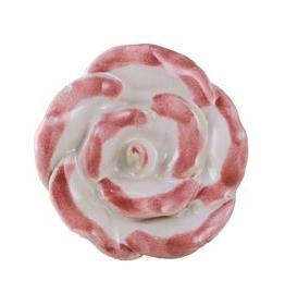 Charleston Knob Company Pink White Ceramic Flower Knob