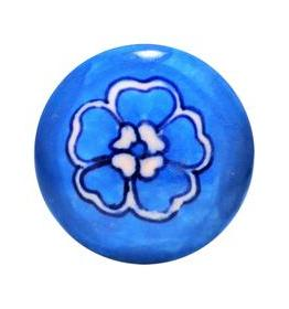Charleston Knob Company Blue White Floral Ceramic Cabinet Knob