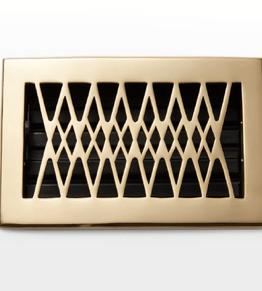 Deco & Deco Solid Brass Floor Registers 4X10 Satin Nickel