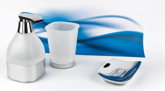 Colombo Design Bathroom Accessories Alize Standing Soap Dispenser-Chrome