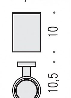Colombo Design Plus Collection Glass/Tumbler Holder-Chrome