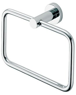 Colombo Design Plus Collection Towel Ring Holder-Chrome