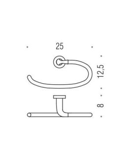 Colombo Design Basic Collection Ring Towel Holder – Chrome