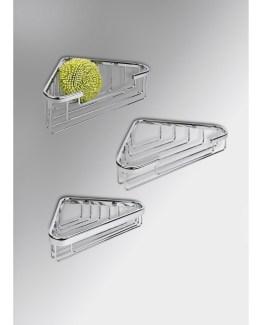 Colombo Design Basic Collection Single Corner Deep Shower Basket
