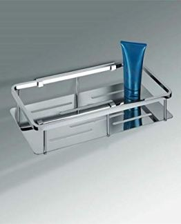 Colombo Designs Free Standing Soap Basket for Shower-Chrome