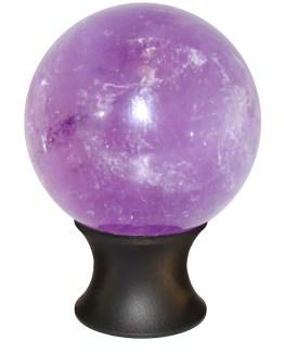 Amethyst Sphere Cabinet Knob-Matte Black