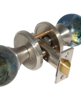 Gemstone Hardware Door Knob Labradorite Satin Stainless Steel Pull