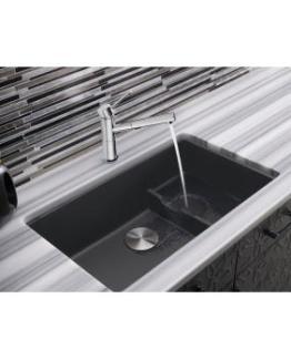 Super Single Bowl Sink Blanco Precis Cascade - Cinder