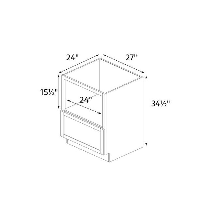 steam white shaker 27 wide microwave base cabinet rta
