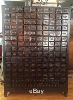 Amazing 150 Multi Drawer Antique Vintage Cabinet By Chas P Whittle Boston Ma