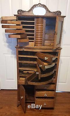 Antique Oak Ransom Amp Randolph Company Dental Cabinet 40 Early 1900s
