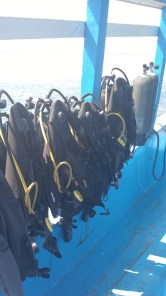 Scuba gear at the ready