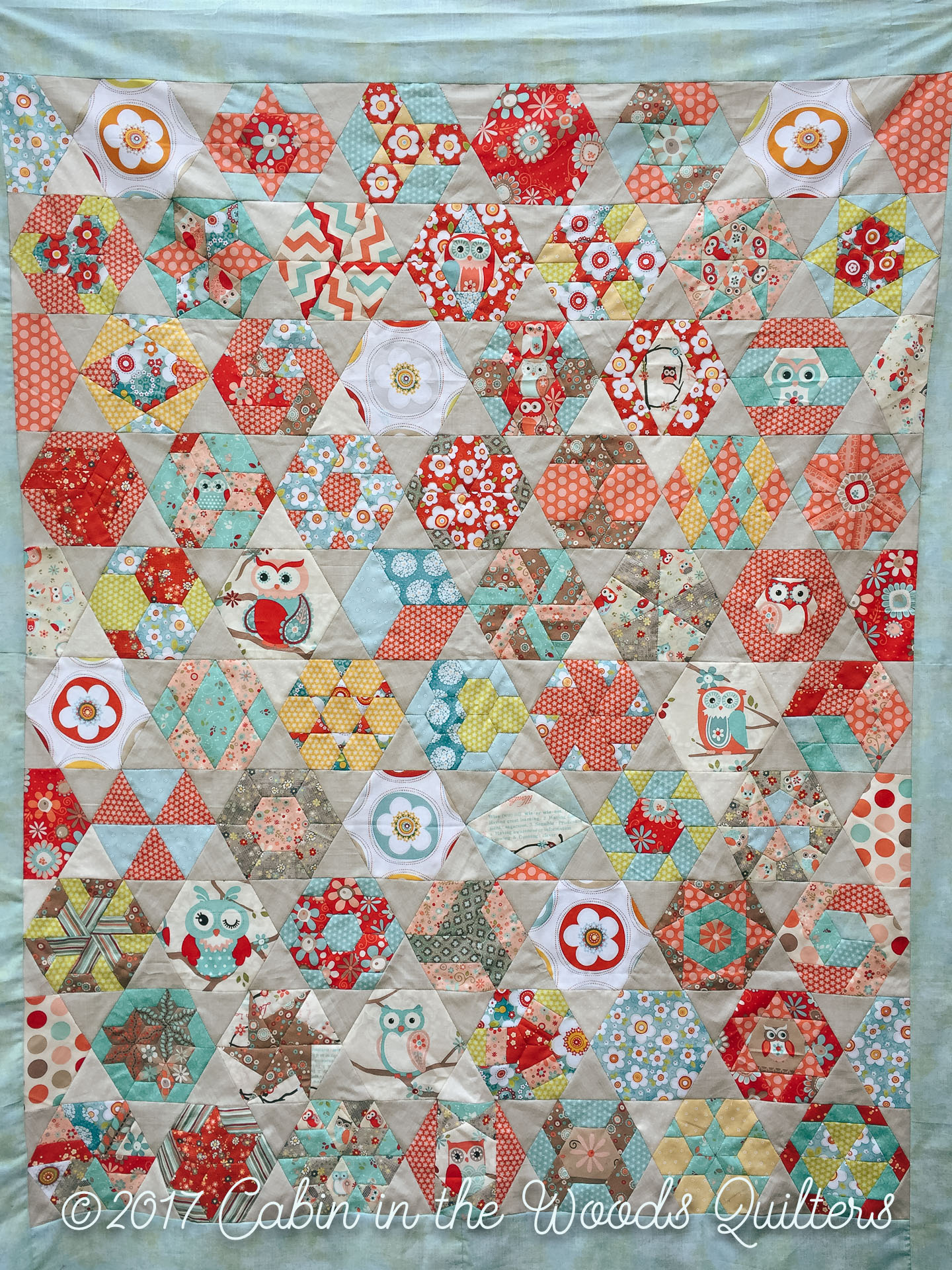 Week 11: New Hexagon Quilt Along: Blocks 51-52 and Finished Quilt ... : large hexagon quilt - Adamdwight.com