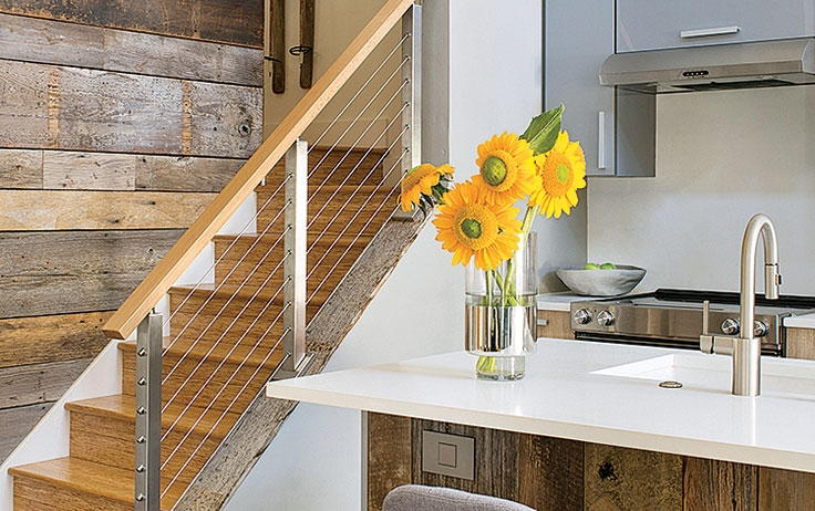 7 Unique Stairs Ideas To Spark Your Cabin Inspiration | Nautical Rope Stair Railing | Ship Rope | Closed Staircase | Cottage Style | Banister | Minimalistic