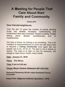 A poster for a meeting in Fort Simpson to address the community's issues, uploaded to Facebook by Ray Pidzamecky - Ray Pidzamecky-Facebook