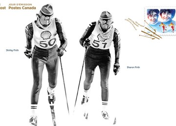 The NWT's Firth sisters, four-time Olympians, are shown on a Canada Post first day cover produced ahead of the 2018 Winter Olympic Games - Canada Post