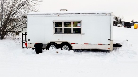 Yellowknife's Noodo Monster food truck is pictured in Kam Lake as it begins operations in January 2018 - Noodo Monster-Facebook