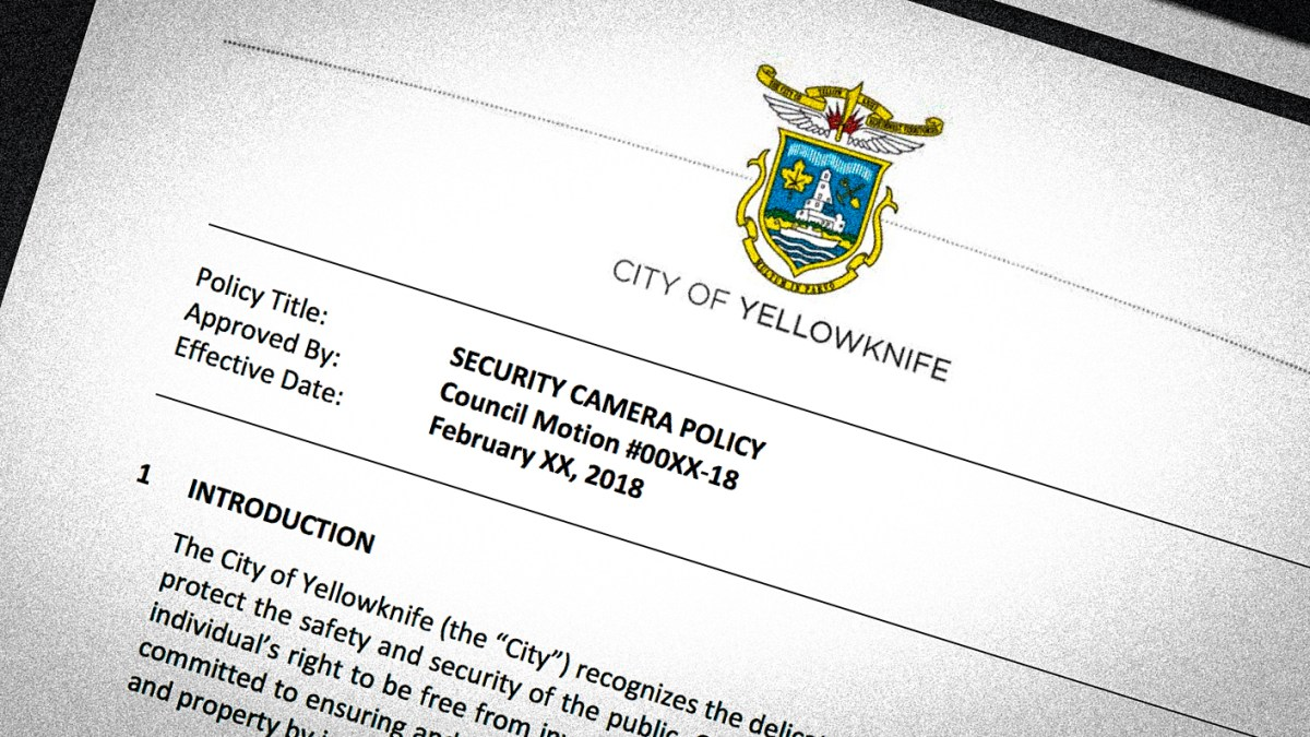 Draft of Yellowknife's new security camera policy revealed