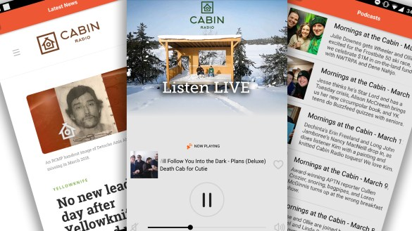 Cabin Radio app screenshots