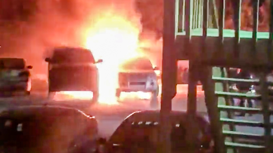 Vehicle fire overnight at Yellowknife's Beck Court