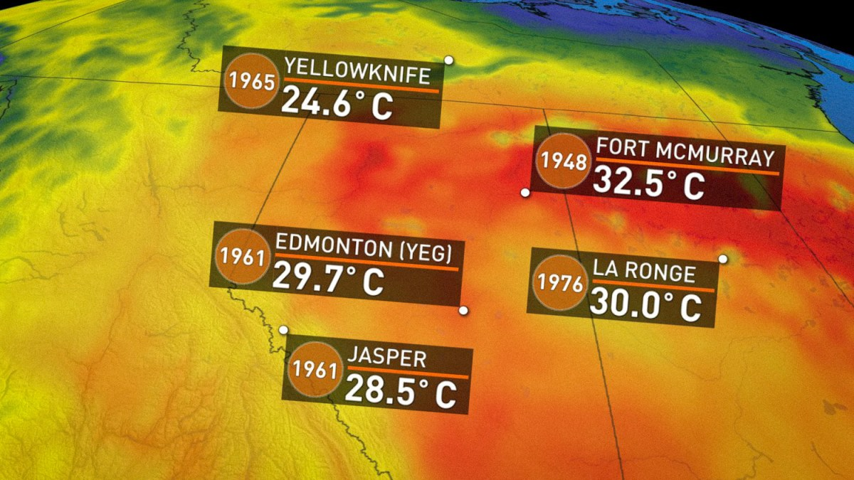 Wednesday's heat smashed a 50-year Yellowknife record